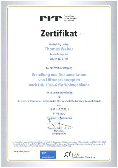Zertifikate / Verbände - Bausachverständigenbüro Thomas Weber, Fulda